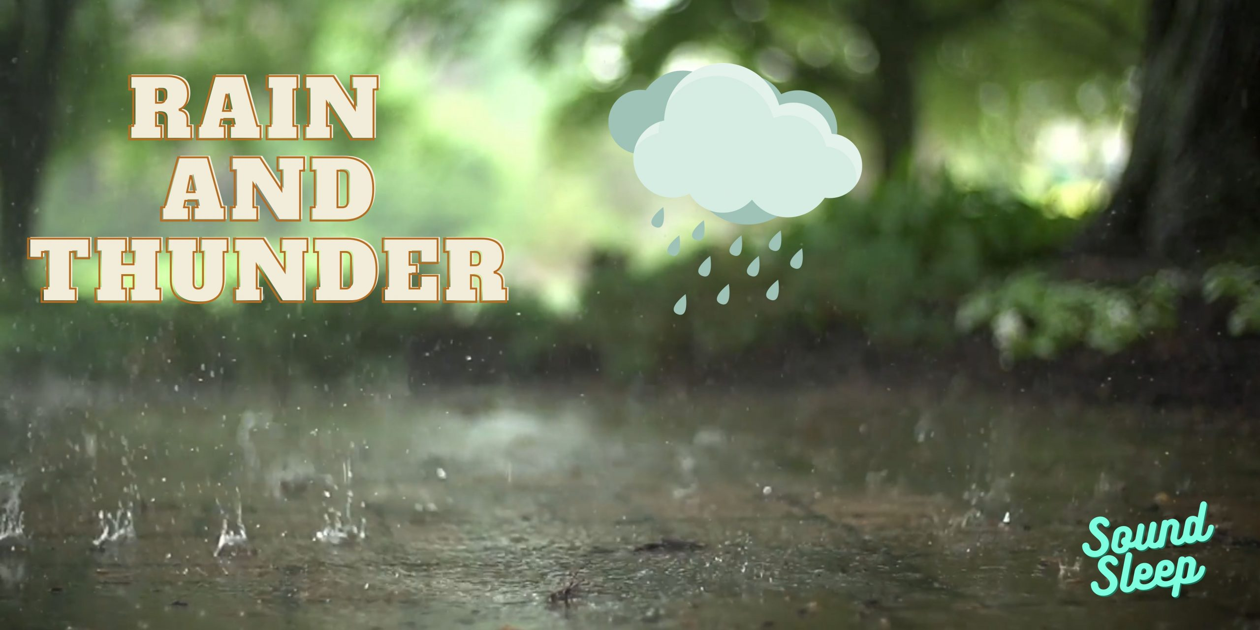 Sleep With Nature Heavy Rain Sounds And Gentle Thunder